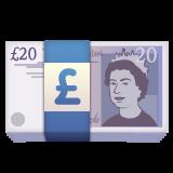 Banknote With Pound Sign whatsapp emoji