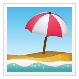 Beach With Umbrella whatsapp emoji