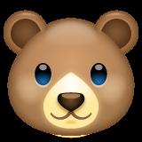 Bear Face whatsapp emoji