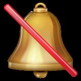 Bell With Cancellation Stroke whatsapp emoji