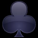 Black Club Suit whatsapp emoji