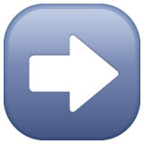 Black Rightwards Arrow whatsapp emoji