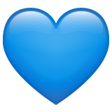 Blue Heart whatsapp emoji