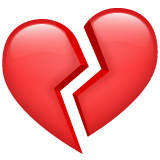 Broken Heart whatsapp emoji