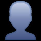 Bust In Silhouette whatsapp emoji