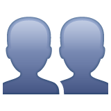 Busts In Silhouette whatsapp emoji