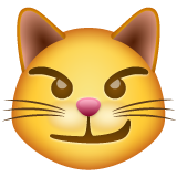 Cat Face With Wry Smile whatsapp emoji