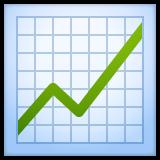Chart With Upwards Trend whatsapp emoji
