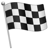 Chequered Flag whatsapp emoji