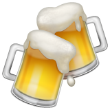Clinking Beer Mugs whatsapp emoji