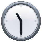 Clock Face Eleven-thirty whatsapp emoji