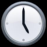 Clock Face Five Oclock whatsapp emoji