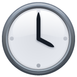 Clock Face Four Oclock whatsapp emoji