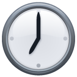 Clock Face Seven Oclock whatsapp emoji