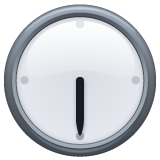 Clock Face Six-thirty whatsapp emoji