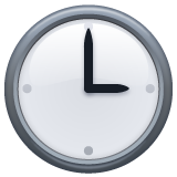 Clock Face Three Oclock whatsapp emoji