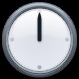 Clock Face Twelve Oclock whatsapp emoji