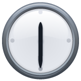 Clock Face Twelve-thirty whatsapp emoji