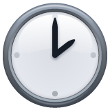 Clock Face Two Oclock whatsapp emoji