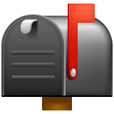 Closed Mailbox With Raised Flag whatsapp emoji
