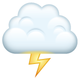 Cloud With Lightning whatsapp emoji
