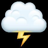 Cloud With Lightning whatsapp emoji