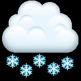 Cloud With Snow whatsapp emoji