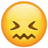 Confounded Face whatsapp emoji
