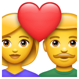 Couple With Heart whatsapp emoji