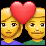 Couple With Heart whatsapp emoji
