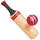 Cricket Bat And Ball whatsapp emoji