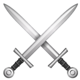 Crossed Swords whatsapp emoji
