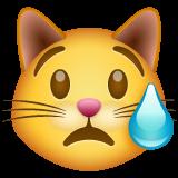 Crying Cat Face whatsapp emoji