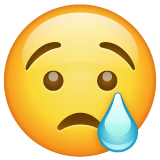 Crying Face whatsapp emoji
