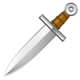 Dagger Knife whatsapp emoji