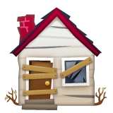 Derelict House Building whatsapp emoji