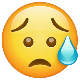 Disappointed But Relieved Face whatsapp emoji