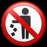 Do Not Litter Symbol whatsapp emoji