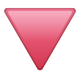 Down-pointing Red Triangle whatsapp emoji