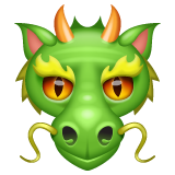 Dragon Face whatsapp emoji