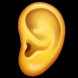 Ear whatsapp emoji