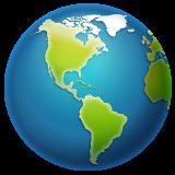 Earth Globe Americas whatsapp emoji