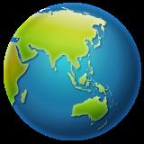 Earth Globe Asia-australia whatsapp emoji