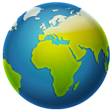 Earth Globe Europe-africa whatsapp emoji