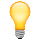 Electric Light Bulb whatsapp emoji