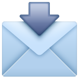Envelope With Downwards Arrow Above whatsapp emoji