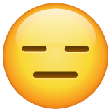 Expressionless Face whatsapp emoji