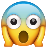 Face Screaming In Fear whatsapp emoji