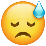Face With Cold Sweat whatsapp emoji