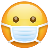 Face With Medical Mask whatsapp emoji